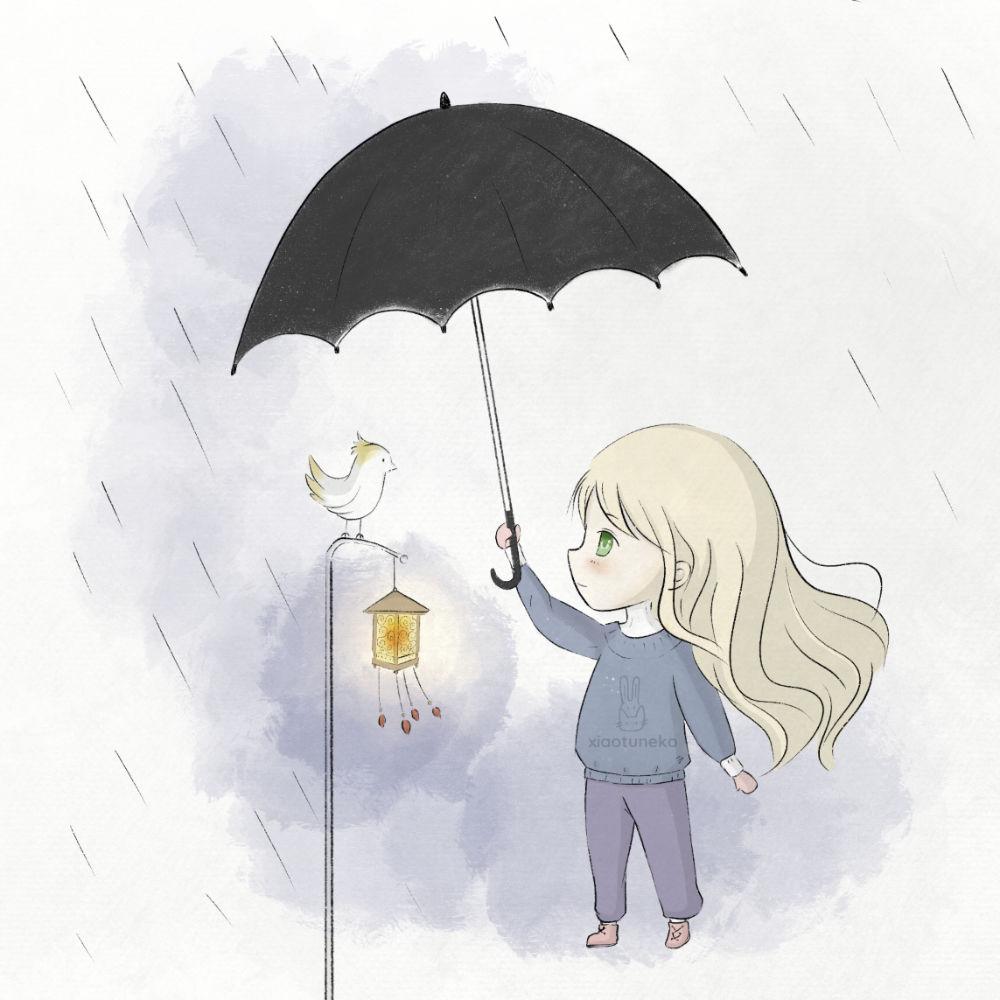 Bird and Rain Xiaotuneko