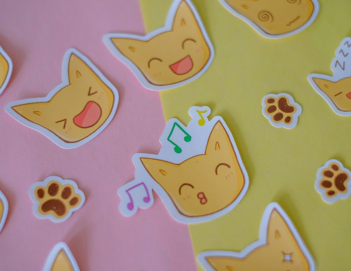 cat stickers expressions