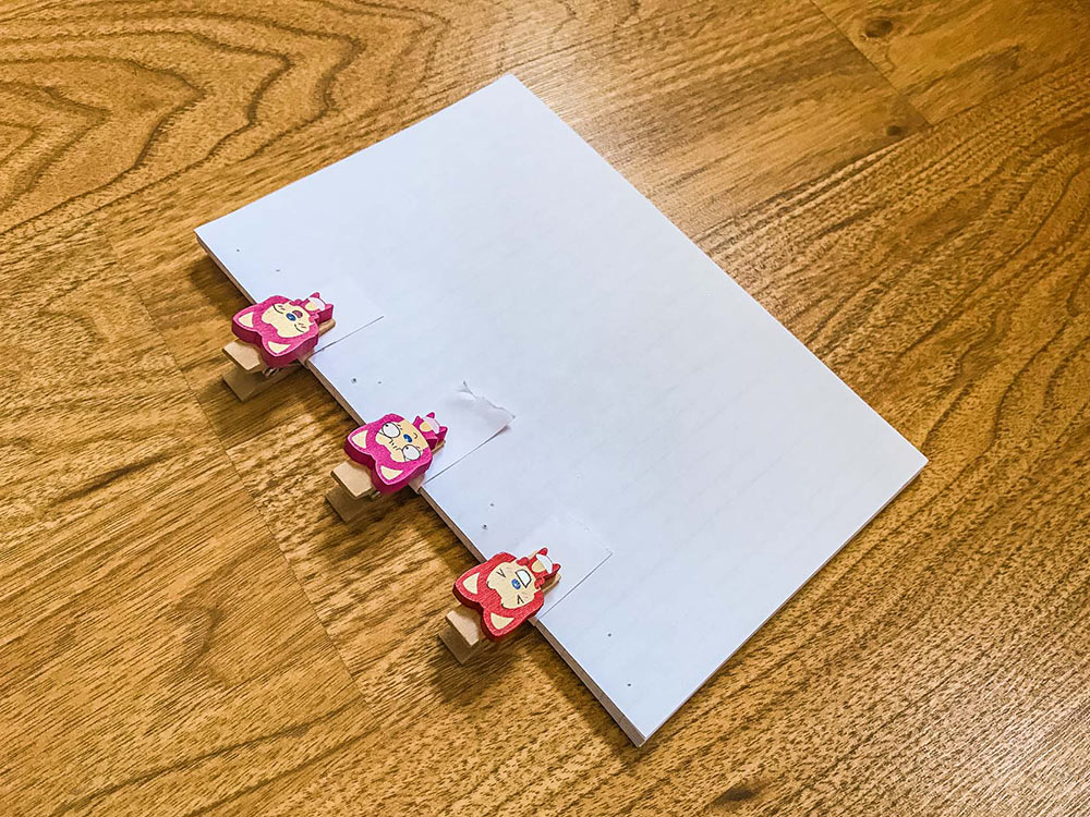 Clips to hold the paper together