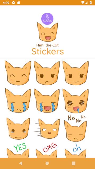 Cute cat sticker pack by Xiaotuneko
