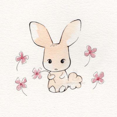 bunny flowers xiaotuneko