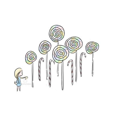 Girl and Candy Forest Xiaotuneko