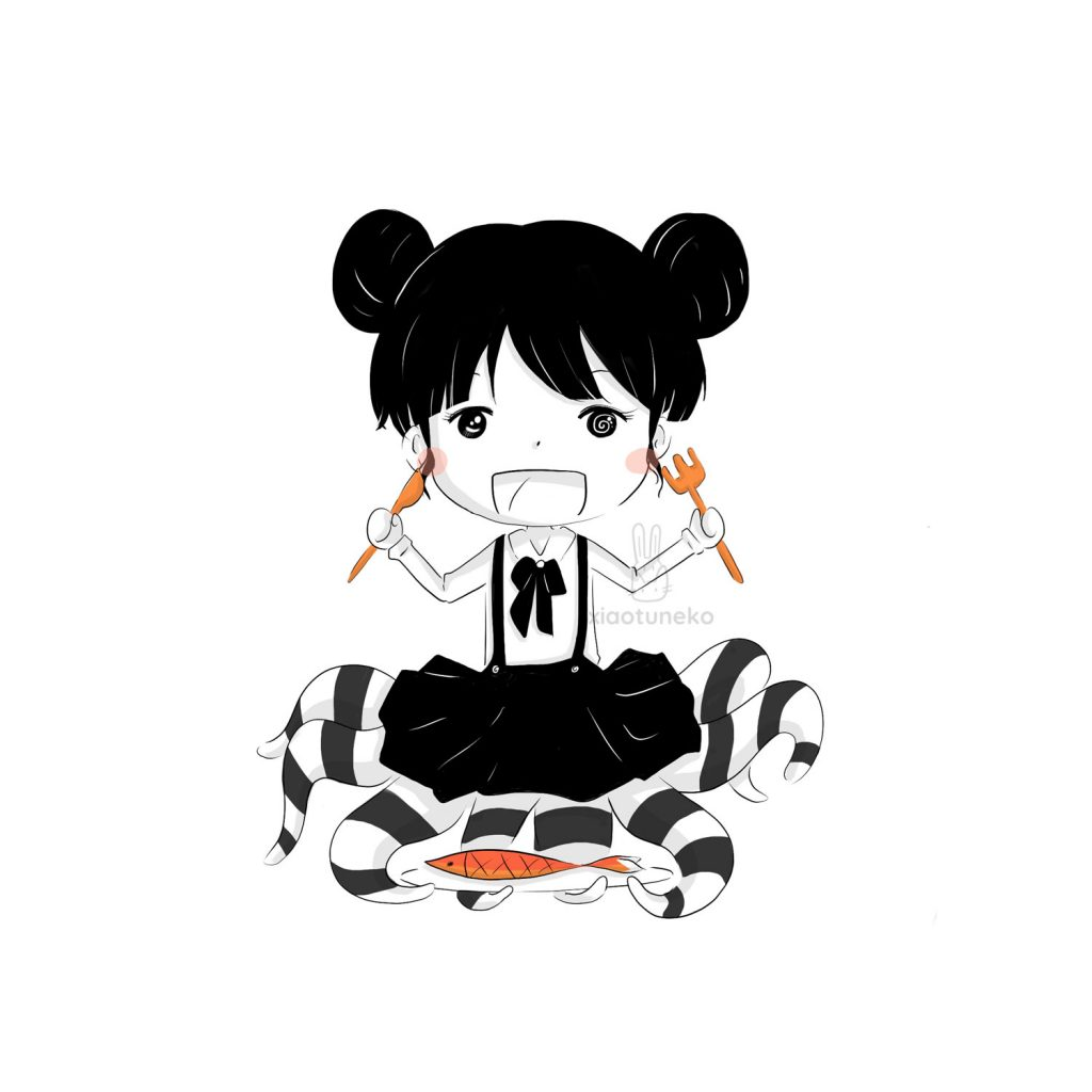 Eating Time Xiaotuneko