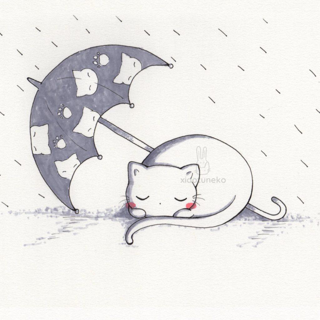 Rainy Day Cat Xiaotuneko