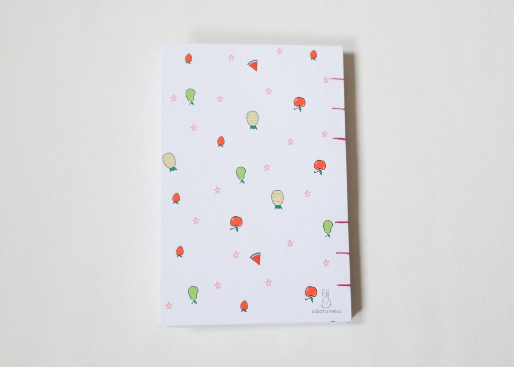 back cover fruits coptic binding xiaotuneko