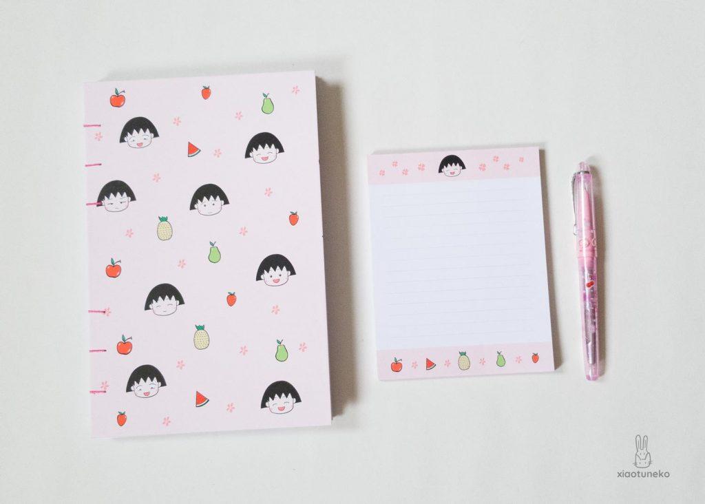 journal and notepad chibi maruko chan xiaotuneko