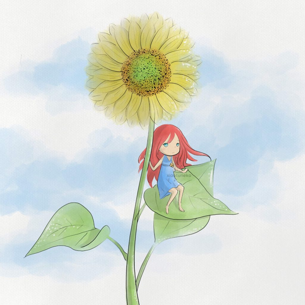 5 colors sunflower xiaotuneko