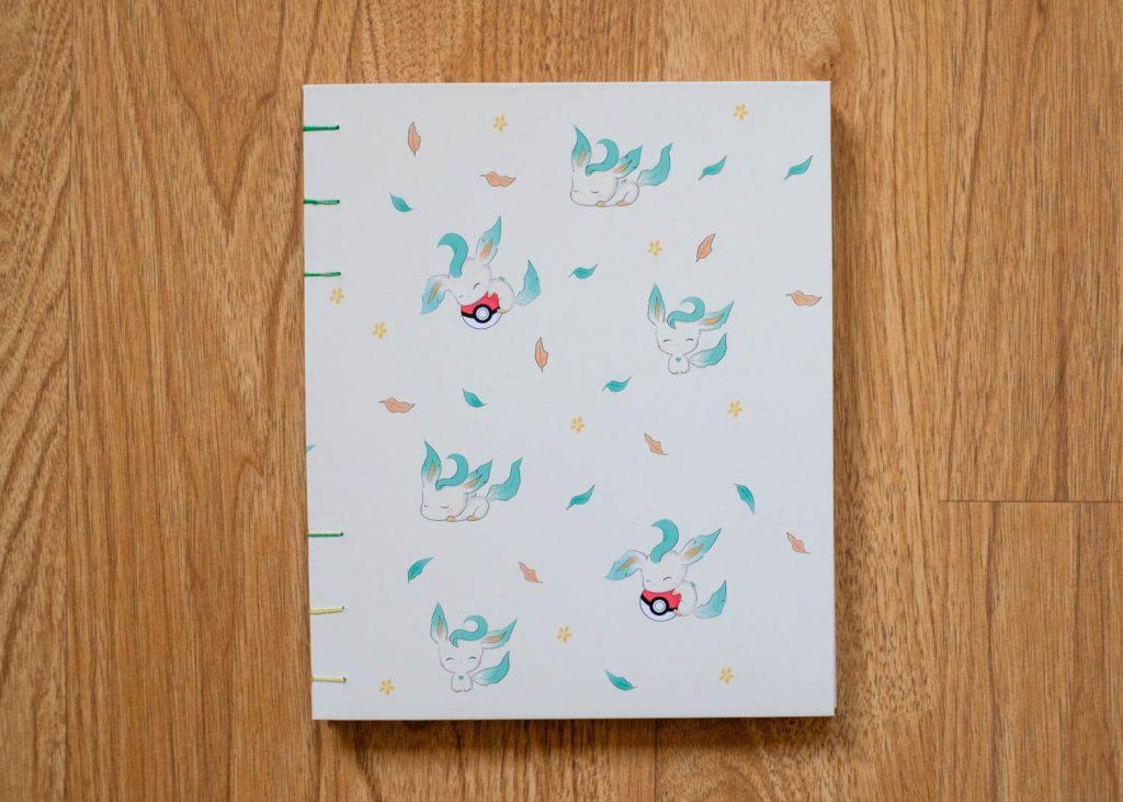 Pokemon Leafeon Coptic stitch book