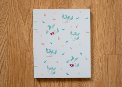 Pokemon Leafeon Coptic stitch book